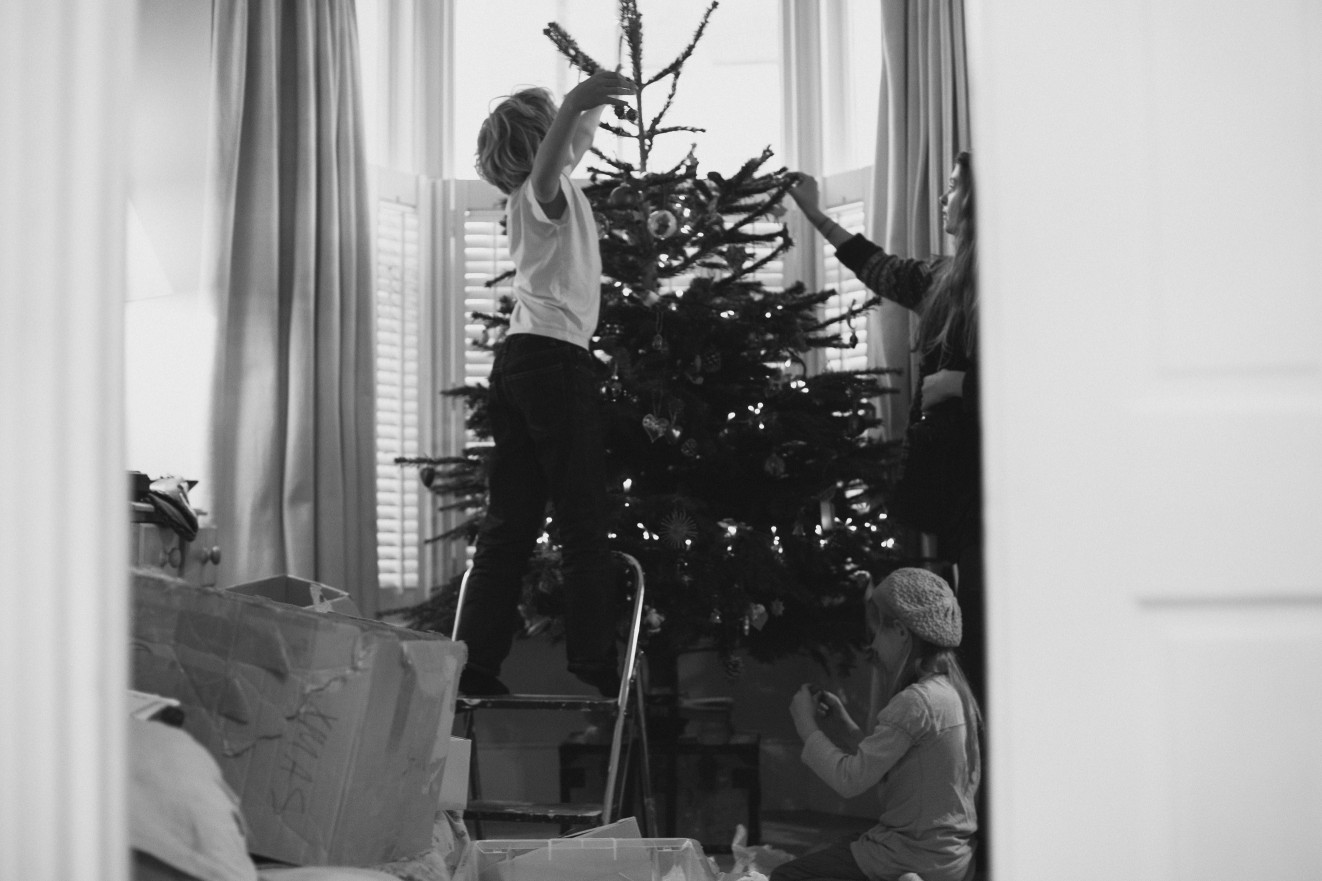 At the Christmas tree shop; last years family Christmas photographs London Children Photography