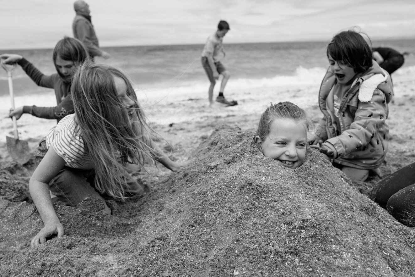 Cardigan Bay, West Wales; Documenting family life with photos. London Children Photography