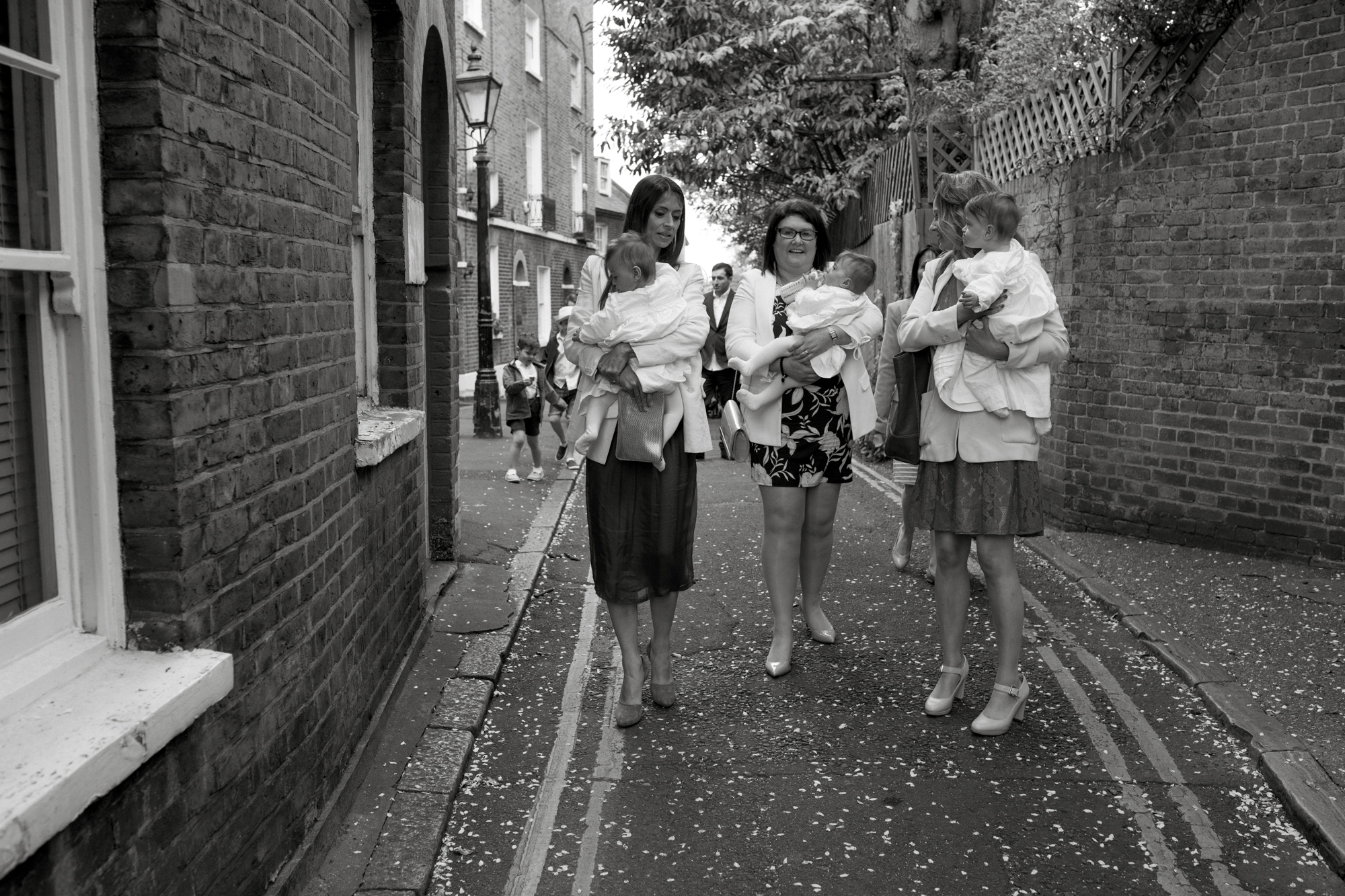 Triplets Christening in Hampstead, London London Children Photography