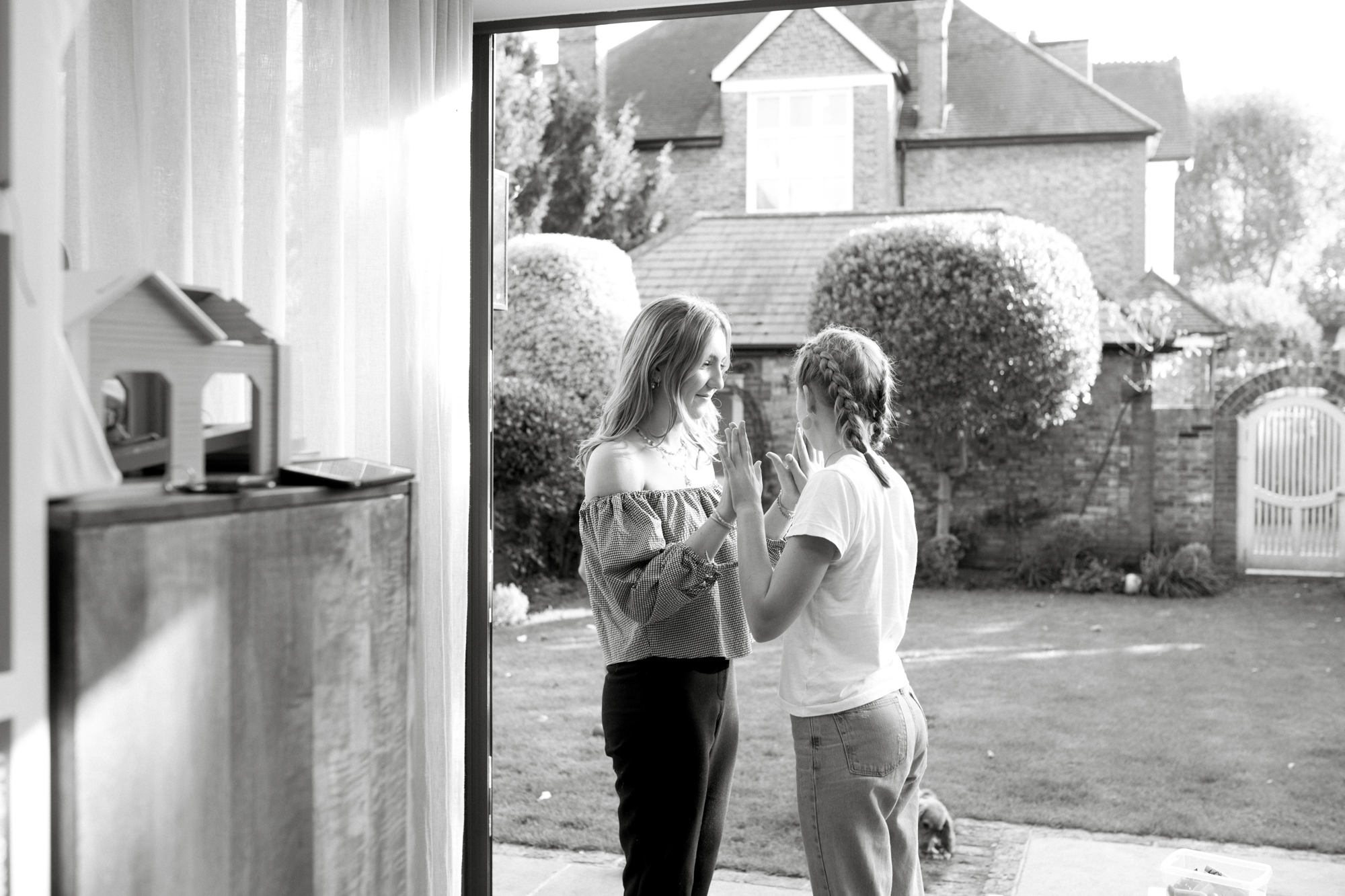 Portraits of teenagers at home in London London Children Photography